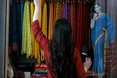 Beautiful Indian Women Expensive Women S Fashion Silk Silken Sarees From Mysore Spepciality Of Benga Poster