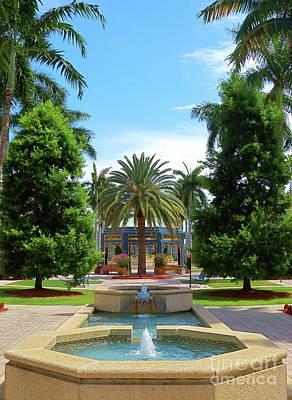Beautiful Mizner Park In Boca Raton, Florida. #8 Poster