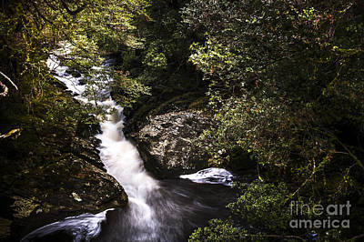Beautiful Nature Landscape Of A Flowing Waterfall Poster by Jorgo Photography - Wall Art Gallery