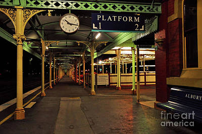 Poster featuring the photograph Beautiful Old Albury Station By Kaye Menner by Kaye Menner