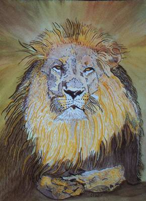Poster featuring the painting Beautiful Pose Of The King by Connie Valasco