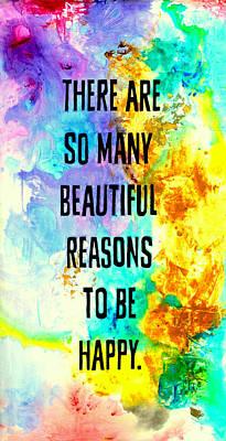 Beautiful Reasons Poster by Ivan Guaderrama