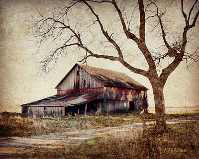 Beautiful Red Barn-near Ogden Poster