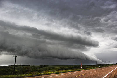 Poster featuring the photograph Beautiful Shelf Cloud by Ryan Crouse