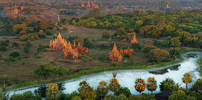 Beautiful Sunrise In Bagan Poster