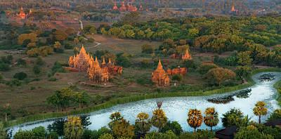 Poster featuring the photograph Beautiful Sunrise In Bagan by Pradeep Raja Prints