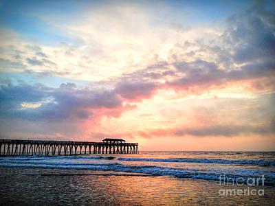 Beautiful Sunrise In Myrtle Beach South Carolina Usa Poster by Vizual Studio