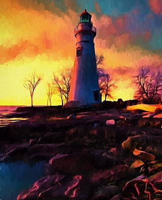 Beautiful Sunrise Marblehead Lighthouse Poster by Dan Sproul