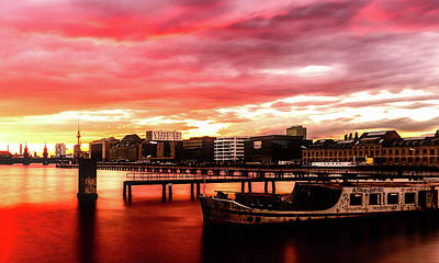 Beautiful Sunset Over Berlin Poster by Artem Sapegin