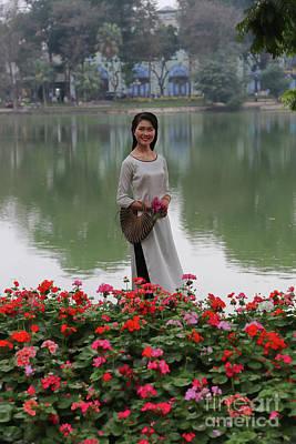 Beautiful Vietnamese Woman Poster by Chuck Kuhn