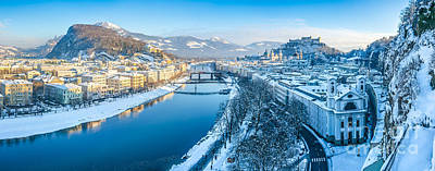Beautiful Winter Day In Snowy Salzburg Poster by JR Photography