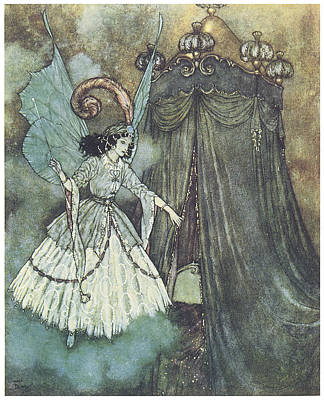 Beauty And The Beast Poster by Edmund Dulac