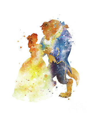 Beauty And The Beast Poster by Monn Print