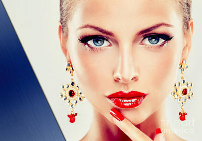 Beauty Collection Poster by Marvin Blaine