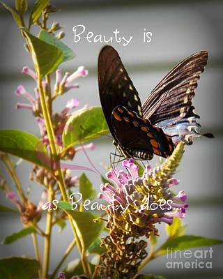 Beauty Is Poster by Anita Faye