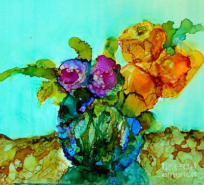 Poster featuring the painting Beauty Of Flowers by Priti Lathia