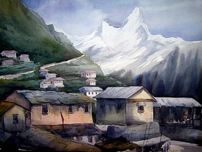 Beauty Of Himalayan Village Poster