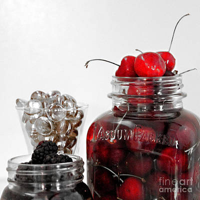 Beauty Of Red Cherries Poster