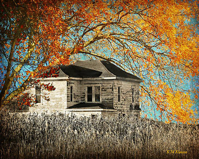Beauty Surrounds Deserted Home Poster by Kathy M Krause