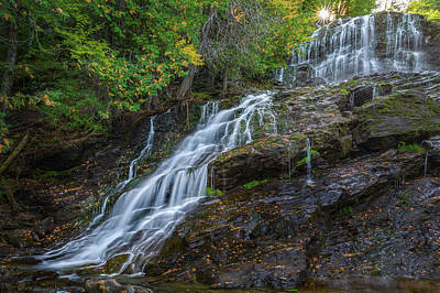 Beaver Brook Falls Poster by Bill Wakeley