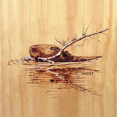 Beaver Pillow/bag Poster by Ron Haist