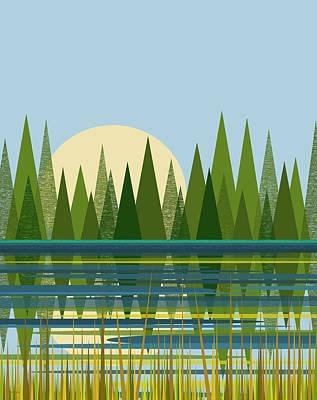 Beaver Pond - Vertical Poster
