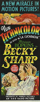 Becky Sharp 1935 Poster by R K O