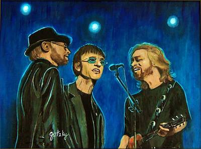 Bee Gees Poster by Paintings by Gretzky
