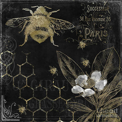 Bee Happy Poster by Mindy Sommers