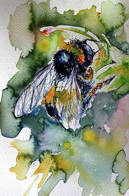 Bee In Work Poster by Kovacs Anna Brigitta