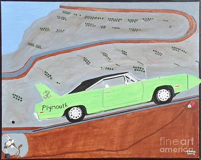 Beep Beep 1970 Plymouth Superbird Poster by Dennis ONeil
