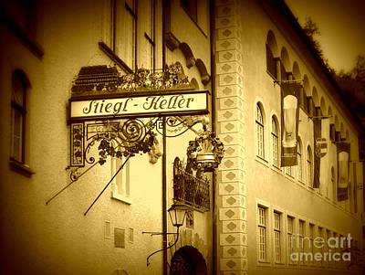 Beer Cellar In Salzburg Poster by Carol Groenen