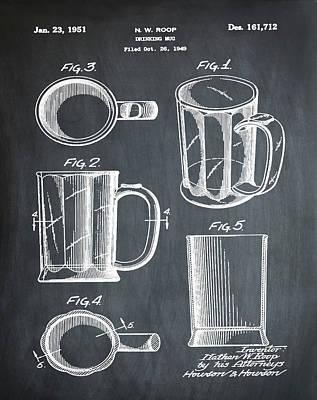 Beer Mug Patent 1951 In Chalk Poster