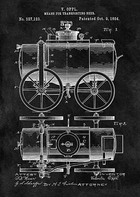 Beer Wagon Patent Poster by Dan Sproul
