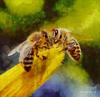 Bees For Life By Sarah Kirk Poster by Sarah Kirk