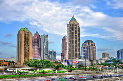 Before The Boom Midtown Atlanta Art Poster by Reid Callaway