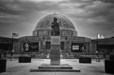 Before The Spring Storm Chicago Adler Planetarium Bw Poster