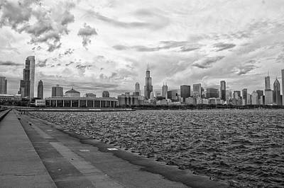 Before The Spring Storm Chicago Shedd Aquarium Bw 02 Poster