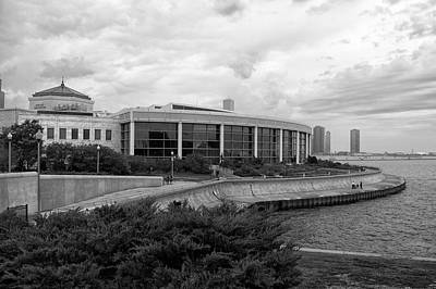 Before The Spring Storm Chicago Shedd Aquarium Eastside Bw Poster