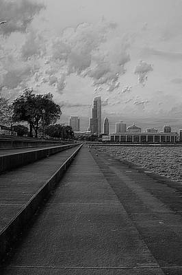 Before The Spring Storm Chicago Shedd Aquarium Eastside Bw Vertical Poster