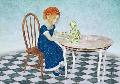 Beginning Of A Friendship Poster by Jutta Maria Pusl