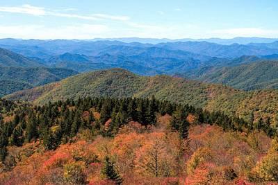 Beginning Of Autumn On The Blue Ridge Poster