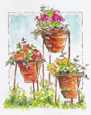 Begonia Triplets Poster