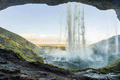 Poster featuring the photograph Behind Seljalandsfoss by James Billings