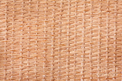 Beige Interlace Wooden Texture Poster