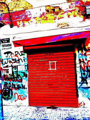 Beirut Storefront Graffitis Poster by Funkpix Photo Hunter