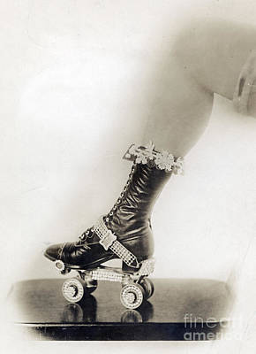 Bejeweled Roller Skate, 1920 Poster