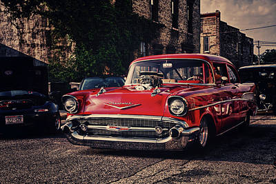 Poster featuring the photograph Bel Air Hotrod by Joel Witmeyer