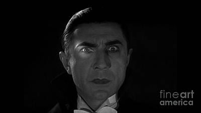 Bela Lugosi  Dracula 1931 And His Piercing Eyes Poster by R Muirhead Art