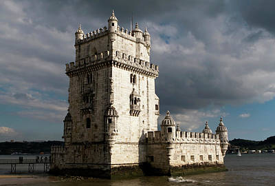 Poster featuring the photograph Belem Tower In Color by Lorraine Devon Wilke